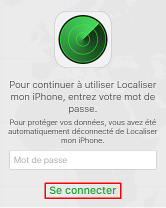 "Identification ""Localiser mon Appareil"" iCloud"