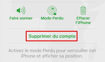 Option appareil iCloud